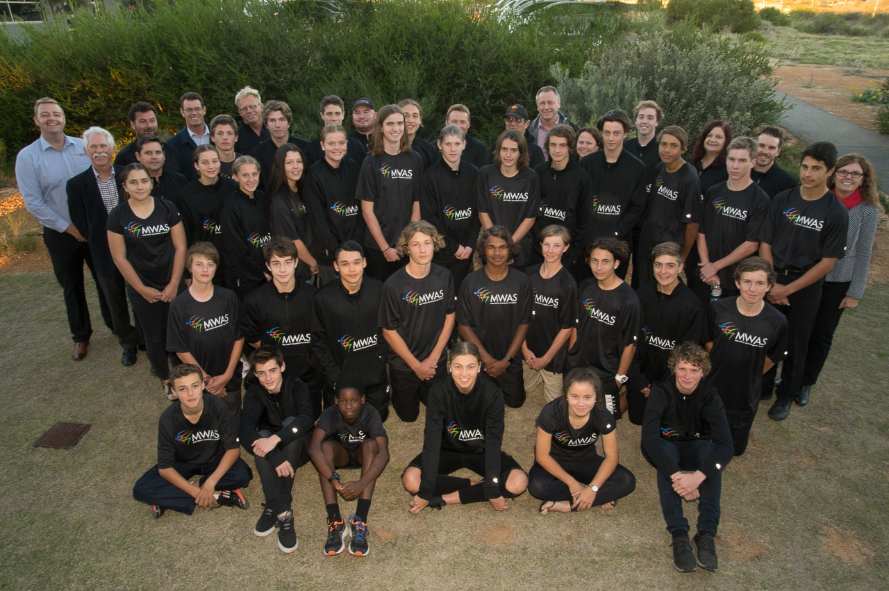 Scholarship athletes-Group photo-MWAS-Geraldton